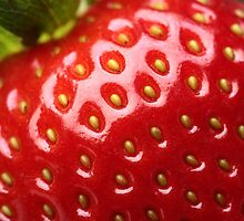 Fresh strawberry close-up by johanswanepoel