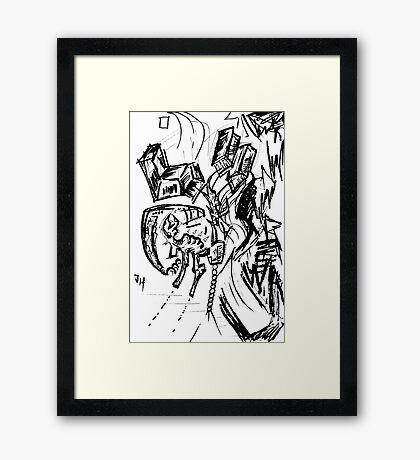098 Framed Print