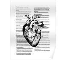 Human Heart On Text Poster