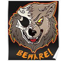 BEWARE! Werewolf Poster