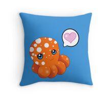 An Octopus' Love Throw Pillow