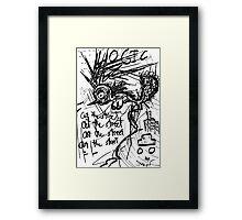 099 Framed Print