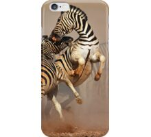 Zebras fighting iPhone Case/Skin