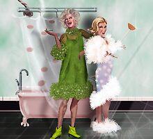 Final Curtain: Shower Curtain by Alma Lee