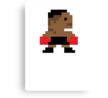 Mike Tyson Pixel Canvas Print