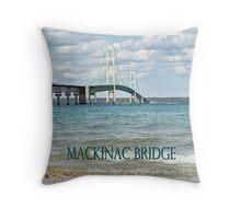 Mackinac Bridge - Photograph Throw Pillow