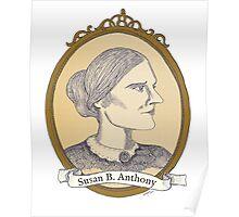 Susan B. Anthony - Antique Portrait Poster