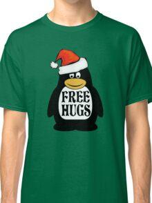 Hugs the Christmas Penguin Classic T-Shirt