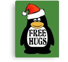 Hugs the Christmas Penguin Canvas Print