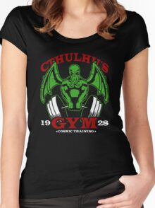 Cthulhu Gym Women's Fitted Scoop T-Shirt