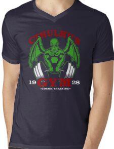 Cthulhu Gym Mens V-Neck T-Shirt