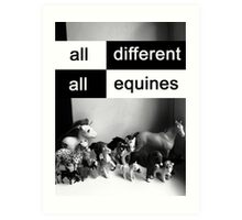 All different, all equines Art Print