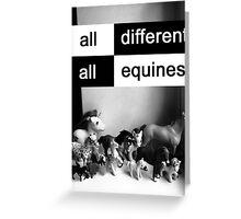 All different, all equines Greeting Card