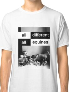 All different, all equines Classic T-Shirt