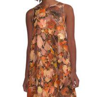 Rich Autumn A-Line Dress