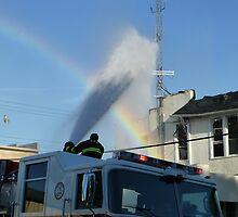 Rainbow & Fire by WildestArt
