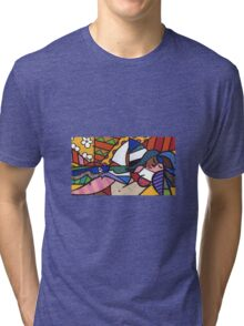 Laying By the Beach Tri-blend T-Shirt