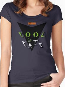 Squeeze Cool For Cats Women's Fitted Scoop T-Shirt