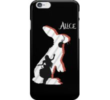 Alice and The White Rabbit. iPhone Case/Skin