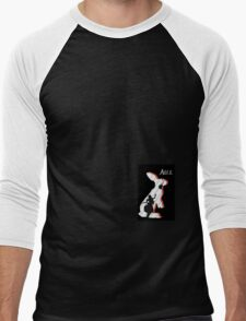 Alice and The White Rabbit. Men's Baseball ¾ T-Shirt