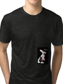 Alice and The White Rabbit. Tri-blend T-Shirt