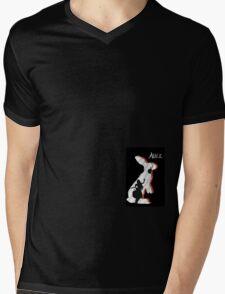 Alice and The White Rabbit. Mens V-Neck T-Shirt