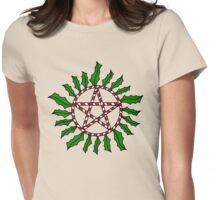 Holiday Anti-Possession Symbol Womens Fitted T-Shirt