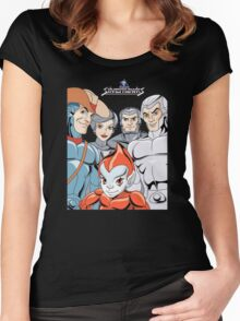 Silver Hawks 80s Cartoons Retro Women's Fitted Scoop T-Shirt