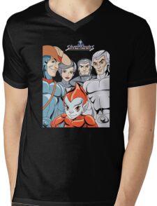 Silver Hawks 80s Cartoons Retro Mens V-Neck T-Shirt