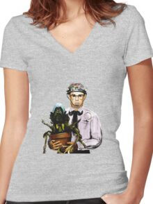 Rick Moranis - 1980's comedy superstar Women's Fitted V-Neck T-Shirt