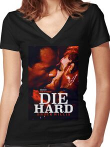DIE HARD 24 Women's Fitted V-Neck T-Shirt