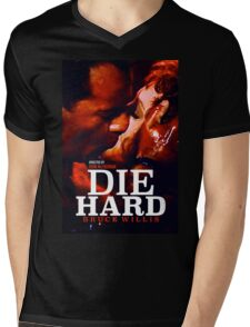 DIE HARD 24 Mens V-Neck T-Shirt