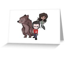 Little Being Human Trio Greeting Card