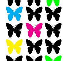 Colorful Butterflies by ValeriesGallery