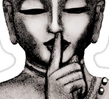 Shh ... do not disturb - Buddha - New Sticker