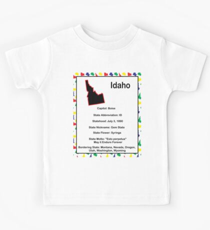 Idaho Information Educational Kids Tee
