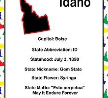 Idaho Information Educational by ValeriesGallery