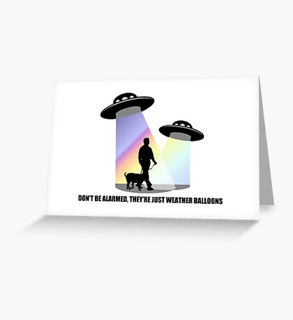 Just Weather Balloons Greeting Card