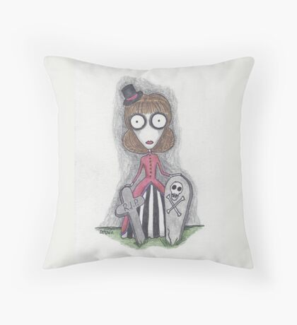 visiting with friends (Rue) Throw Pillow