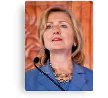 The Honorable Hillary Rodham Clinton Canvas Print