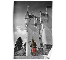 Lone Piper at Crathes Castle Poster