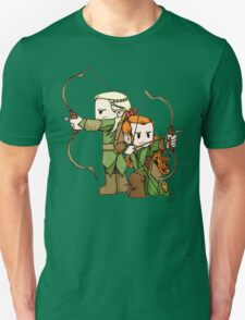 Little Legolas and Tauriel off on an Adventure Unisex T-Shirt