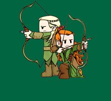 Little Legolas and Tauriel off on an Adventure Womens Fitted T-Shirt