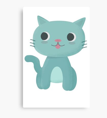 Cute and Happy Cat Canvas Print