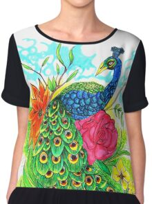 Peacock Women's Chiffon Top
