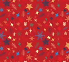 Mixed Christmas elements pattern  Sticker