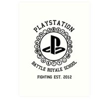 Playstation Battle Royale School (Black) Art Print