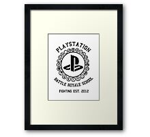 Playstation Battle Royale School (Black) Framed Print