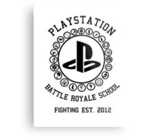 Playstation Battle Royale School (Black) Metal Print