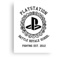 Playstation Battle Royale School (Black) Canvas Print